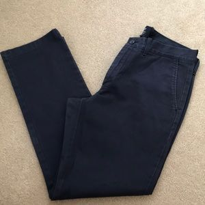 "J. Crew Navy khaki pants size 33 waist ""the Sutton"